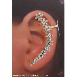 Cercel Accesoriu Ureche Ear Cuff cu Strasuri 04
